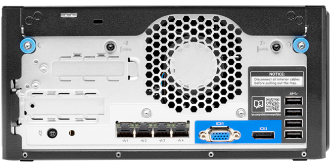 HPE ProLiant MicroServer Gen10 Plus rear