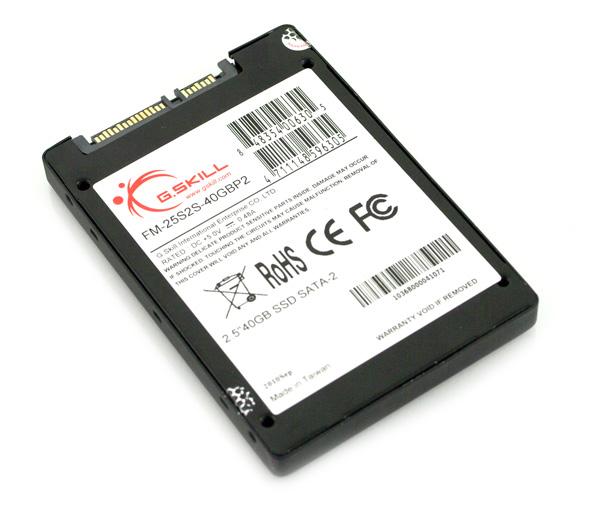 G.Skill Phoenix Pro 40GB SSD bottom