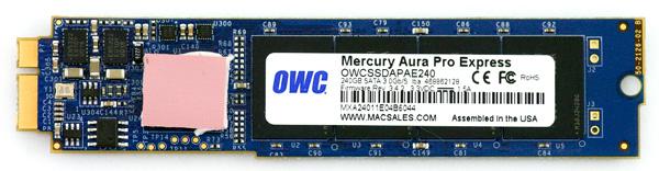 OWC Mercury Pro Aura Express SSD pcb top