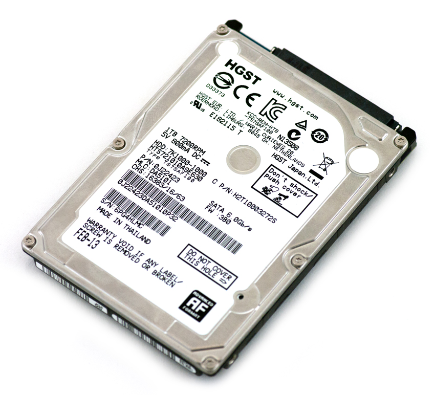 "0J22423 1TB 7200RPM 32MB Cache SATA III 2.5/"" Hard Drive HGST HTS721010A9E630"