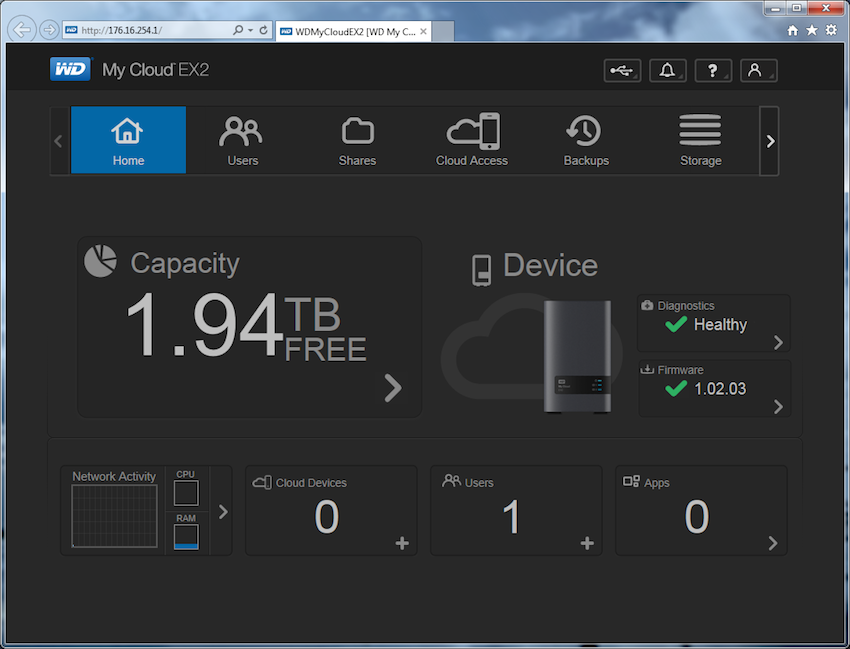 Wd My Cloud Ex2 Review Storagereview Com