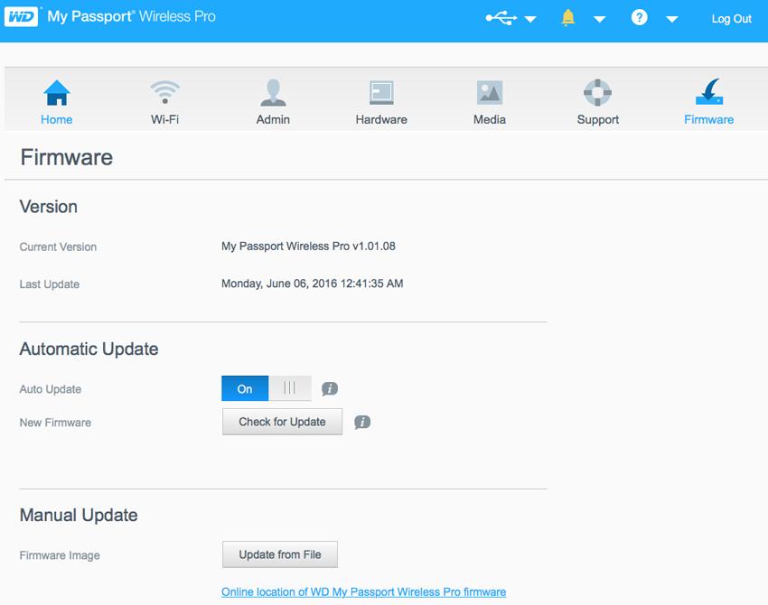 wd my cloud firmware update 2016