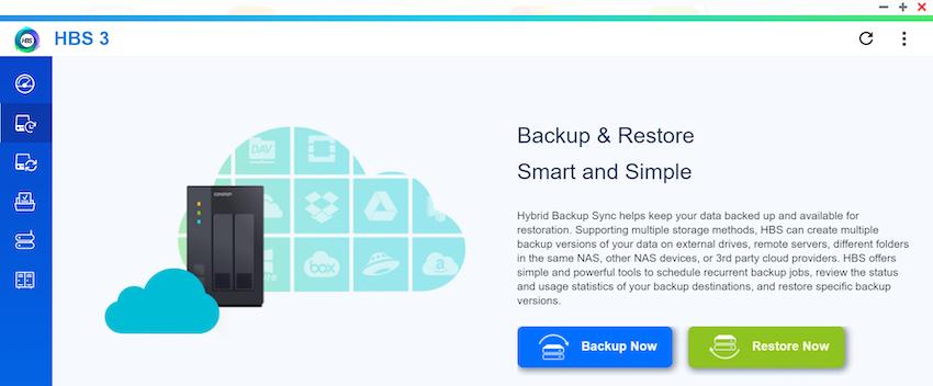 QNAP HBS 3 Setup Backup