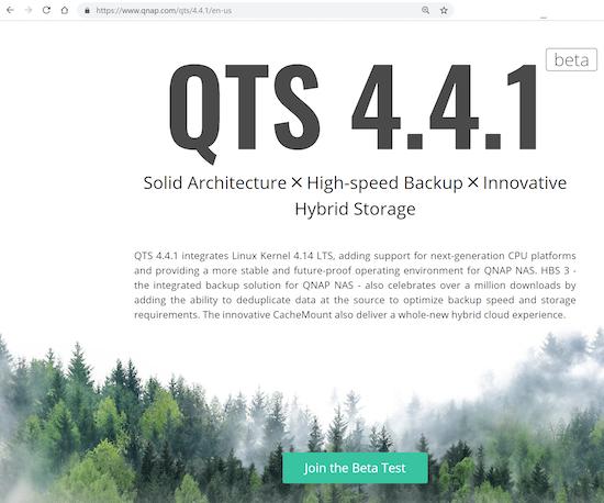 QNAP QTS 4.1.1 beta