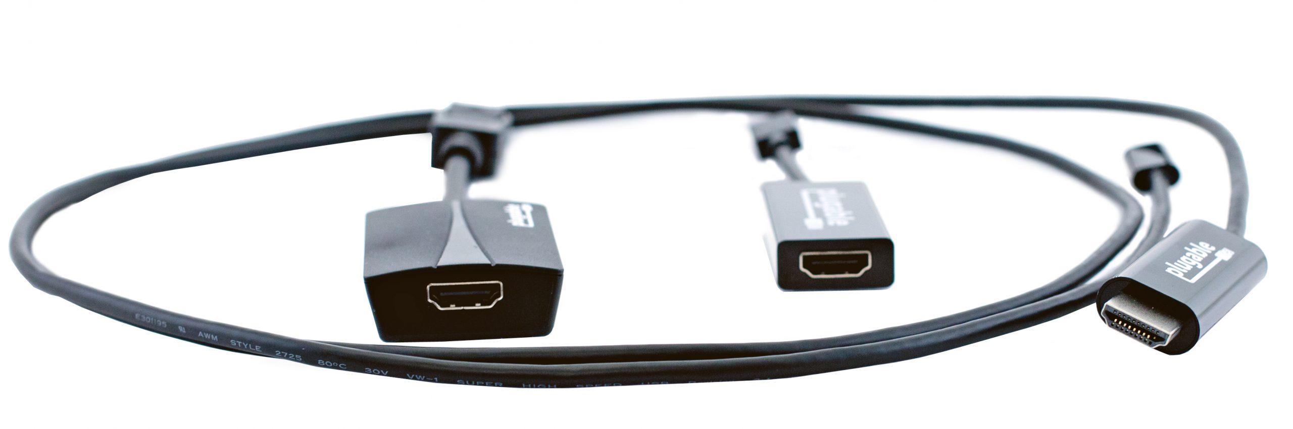 Plugable HDMI Adaptors Front