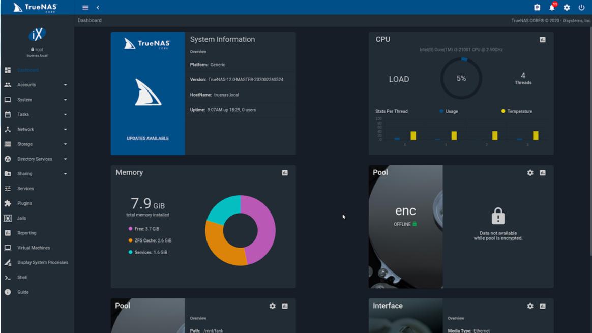iXsystems TrueNAS 12.0