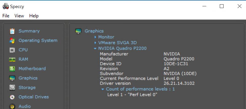 Intel NUC ESXi Speccy