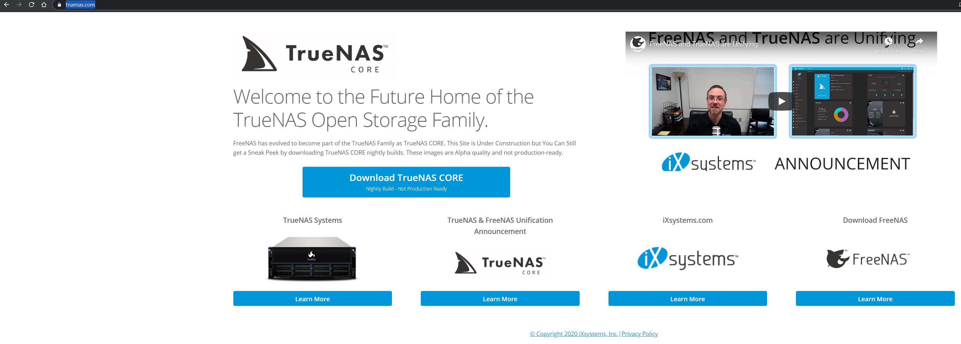 install truenas core