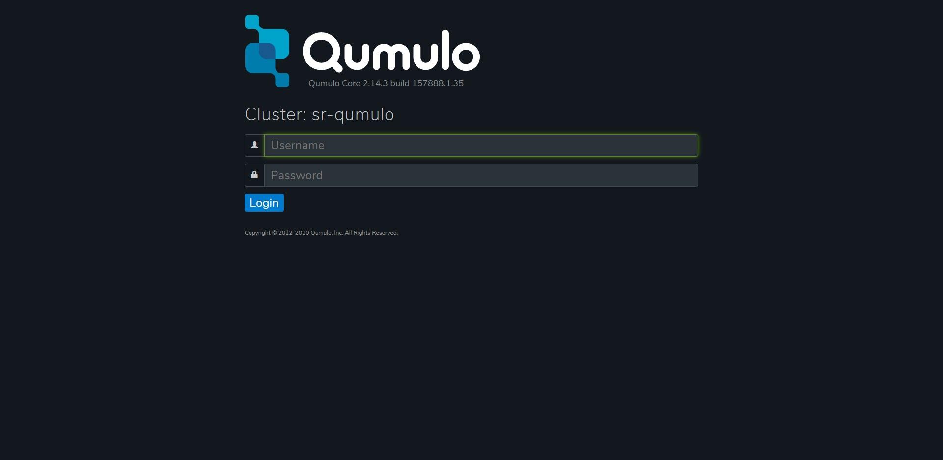 Qumulo Software login