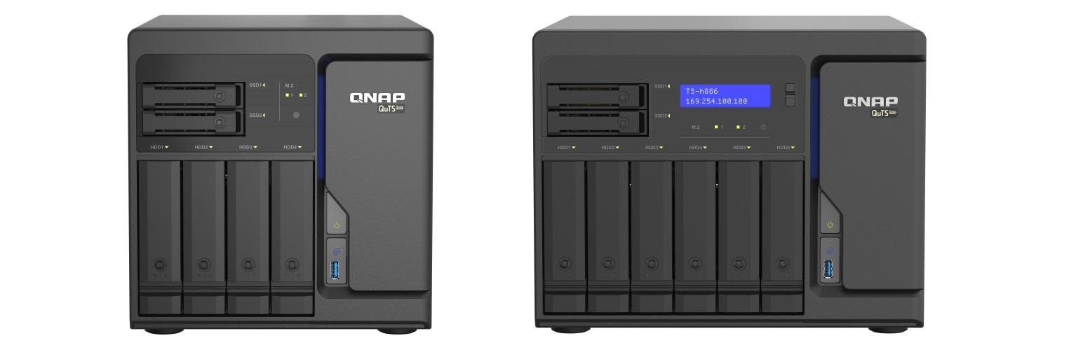QNAP TS-hx86 and TS-h886 front