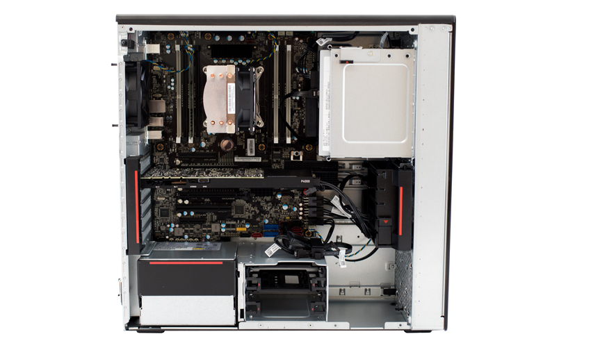 Lenovo ThinkStation P520 open