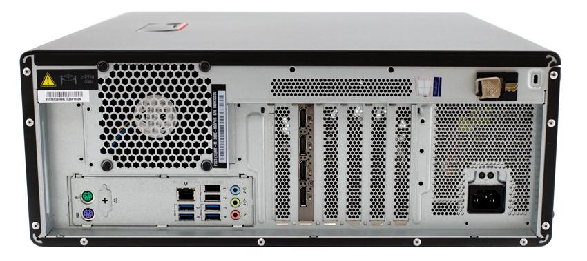 Lenovo ThinkStation P520 rear