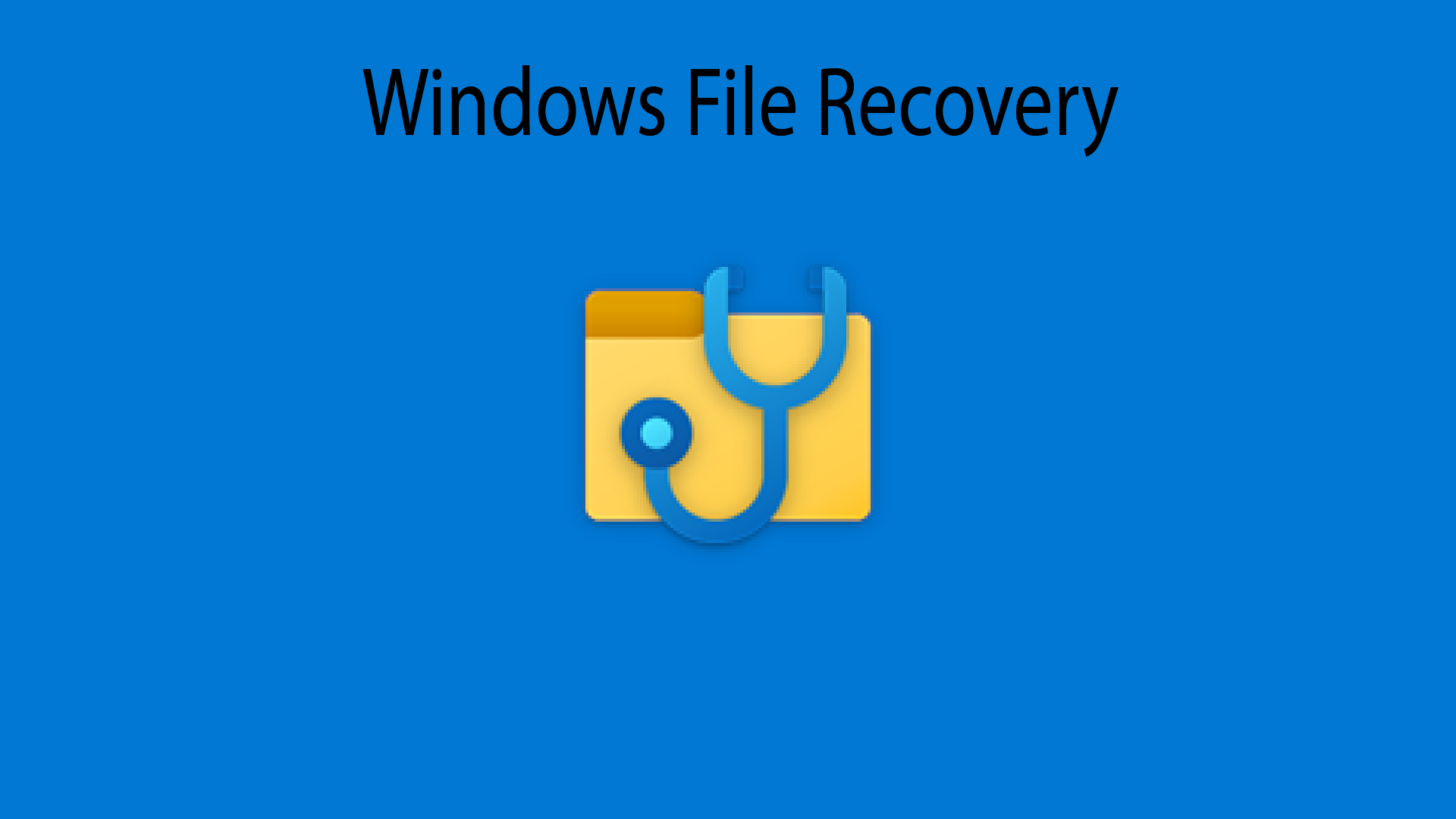 Microsoft Windows File Recovery