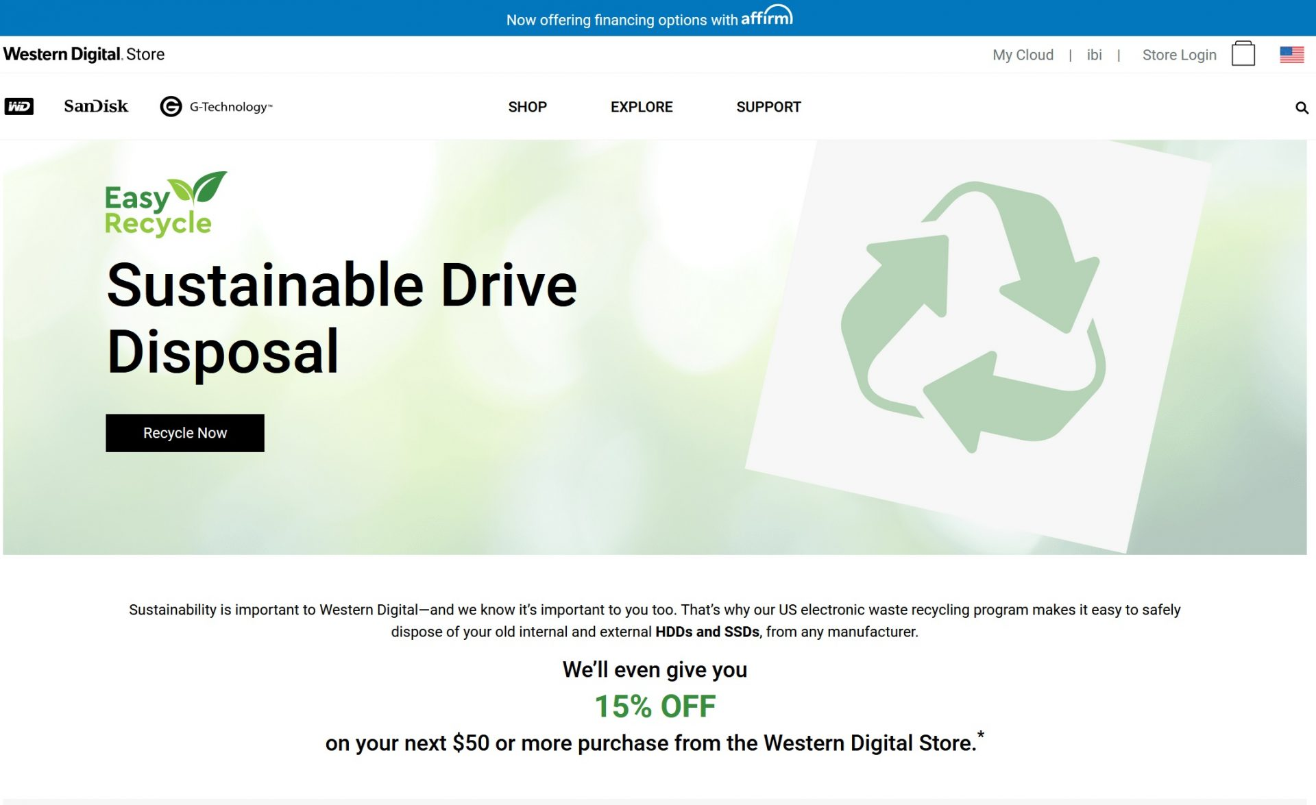Hard Drive Recycling home