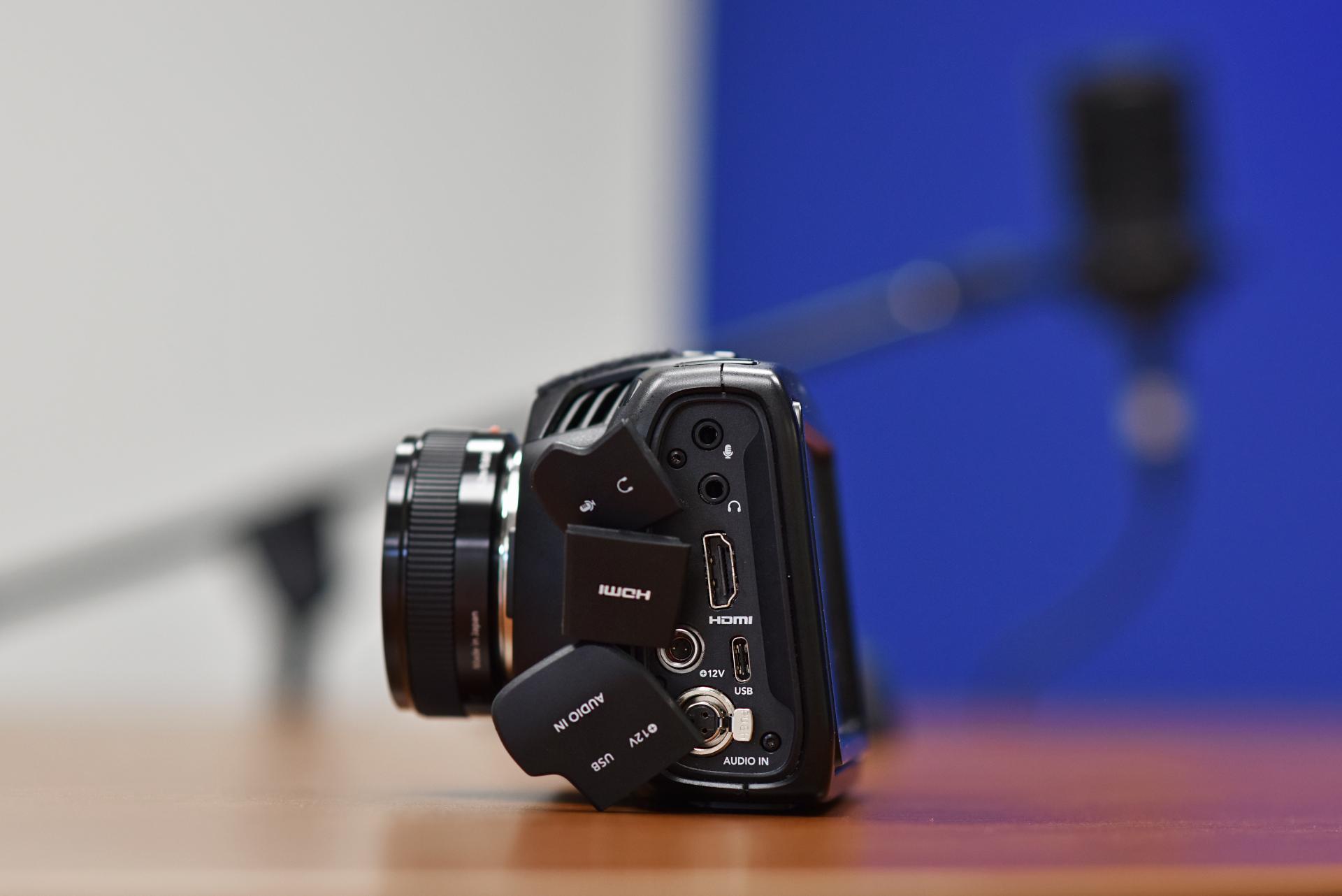 Black Magic Camera Side angle