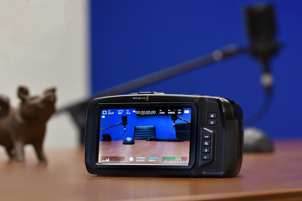 Black Magic Camera screen