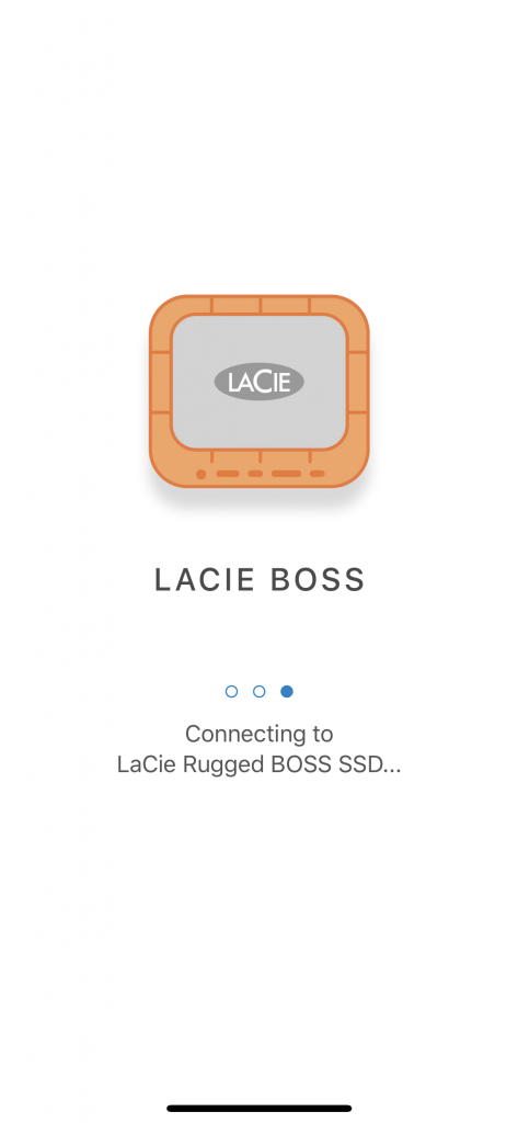 LaCie BOSS iOS App