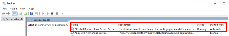 HP ZCentral boot sender