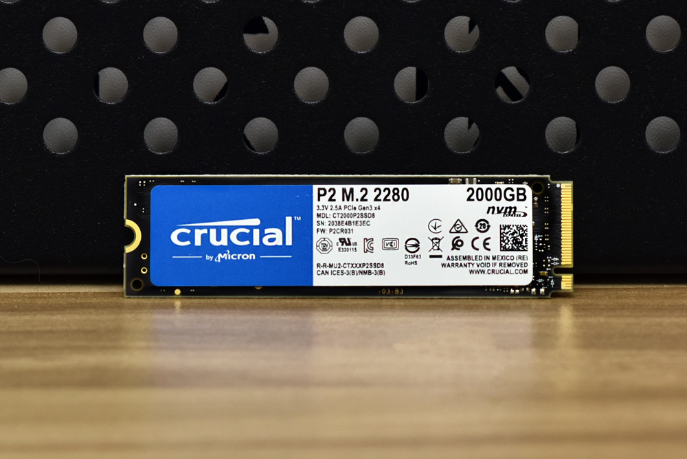 Crucial P2 M.2 SSD front