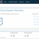 VMware Cloud Disaster Recovery UI
