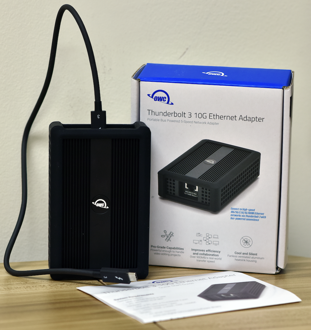 OWC Thunderbolt 3 10GbE Ethernet Adapter ls