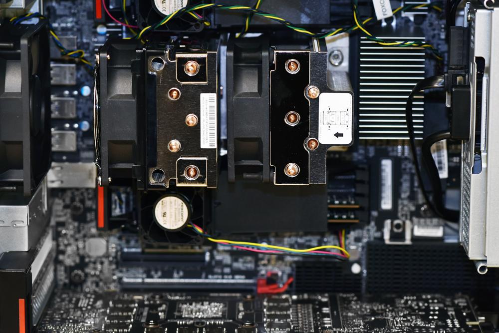 Lenovo p620 inside closeup