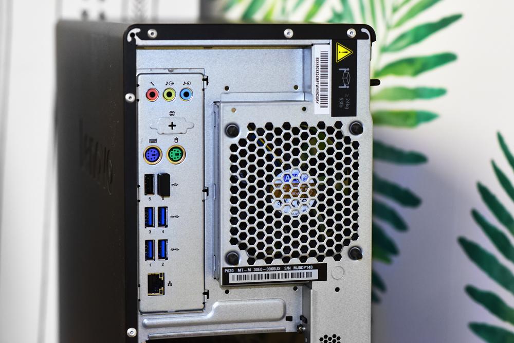 Lenovo p620 back closeup
