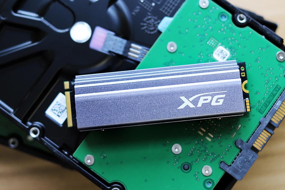 xpg gammix s70 front heatsink