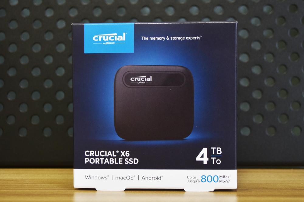 Crucial x6 4tb box