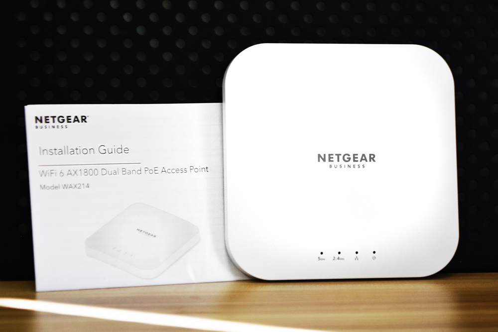 Netgear WAX214 with info