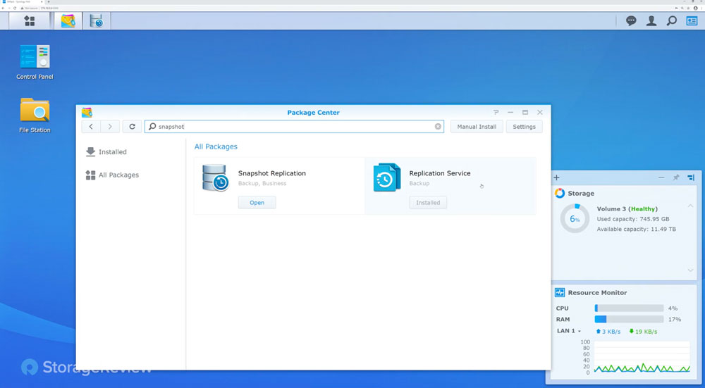 Synology snapshot replication packages