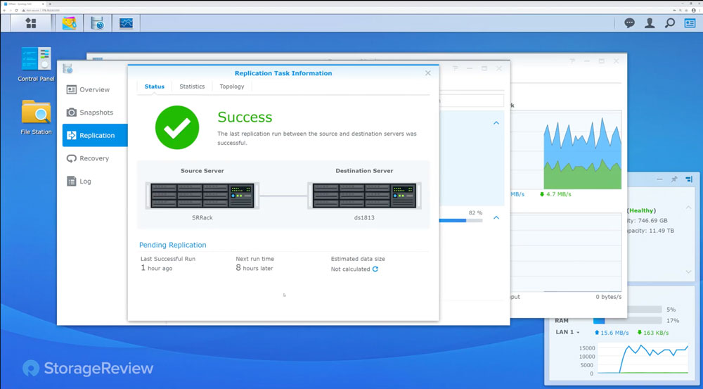 Synology snapshot replication success