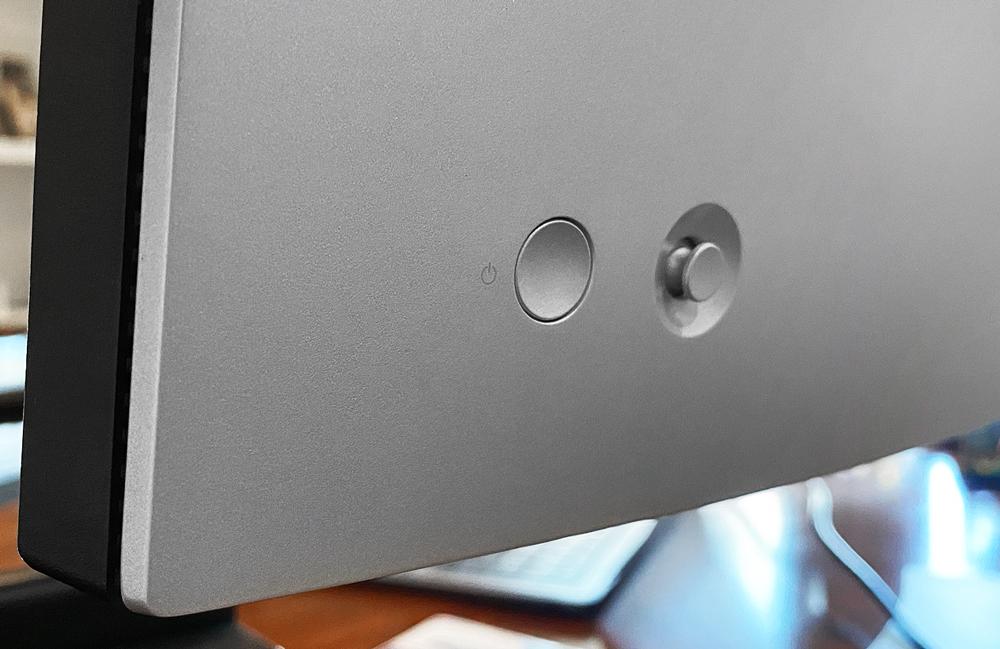 Dell ultrasharp u3821dw power button