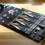 Gigabyte aorus AIC adaptor sabrent SSDs