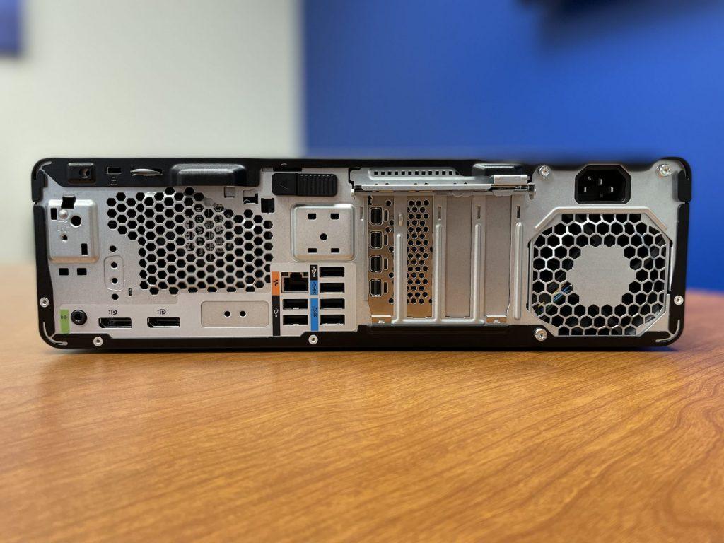 HP Z2 SFF G8 Back