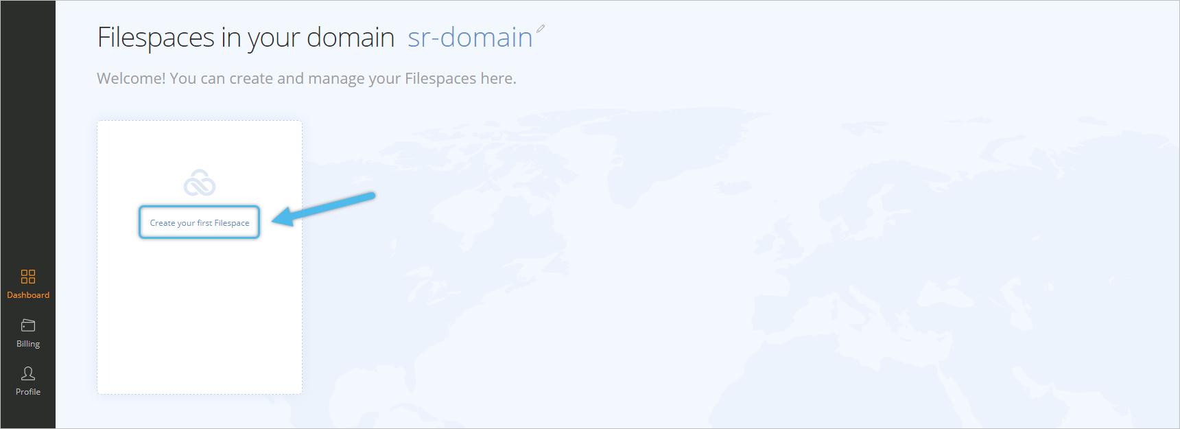 LucidLink Filespaces Cloud NAS step 2-1