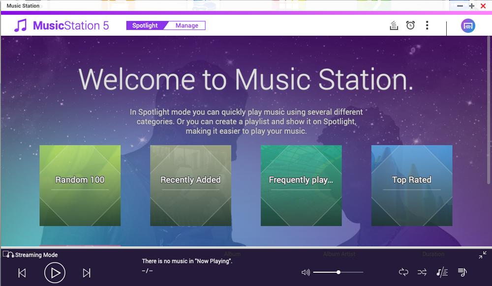 QNAp music station main