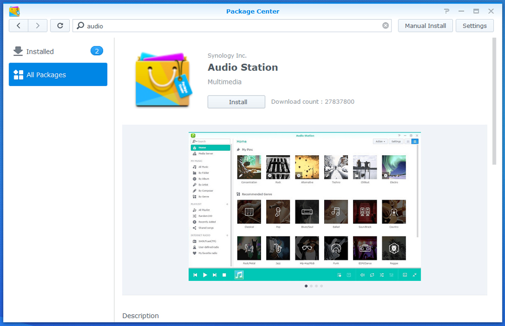 Synology Audio Station Install