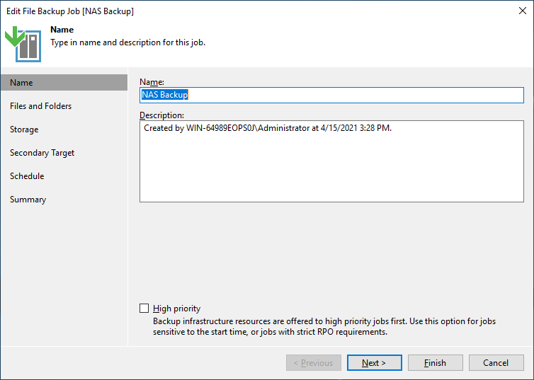 Veeam NAS Backup and Recovery - NAS Backup