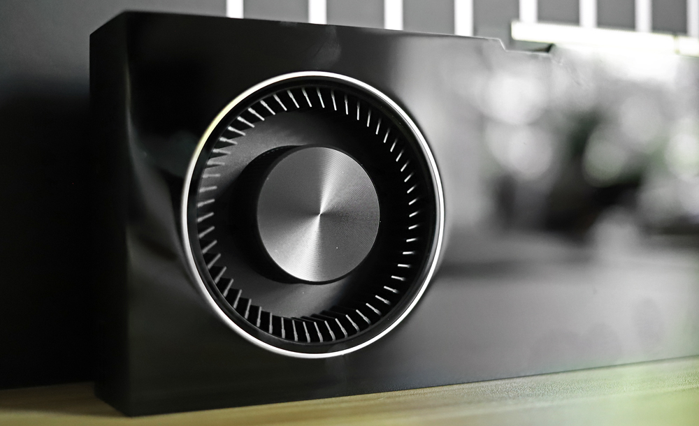 Nvidia RTX A6000 fan closeup