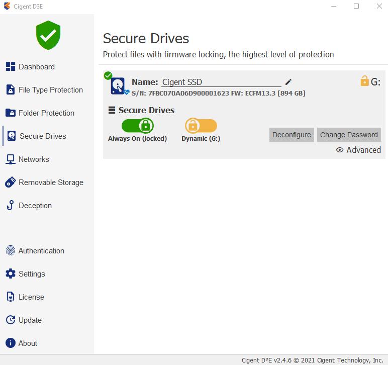 Cigent K2 Secure SSD secure drive