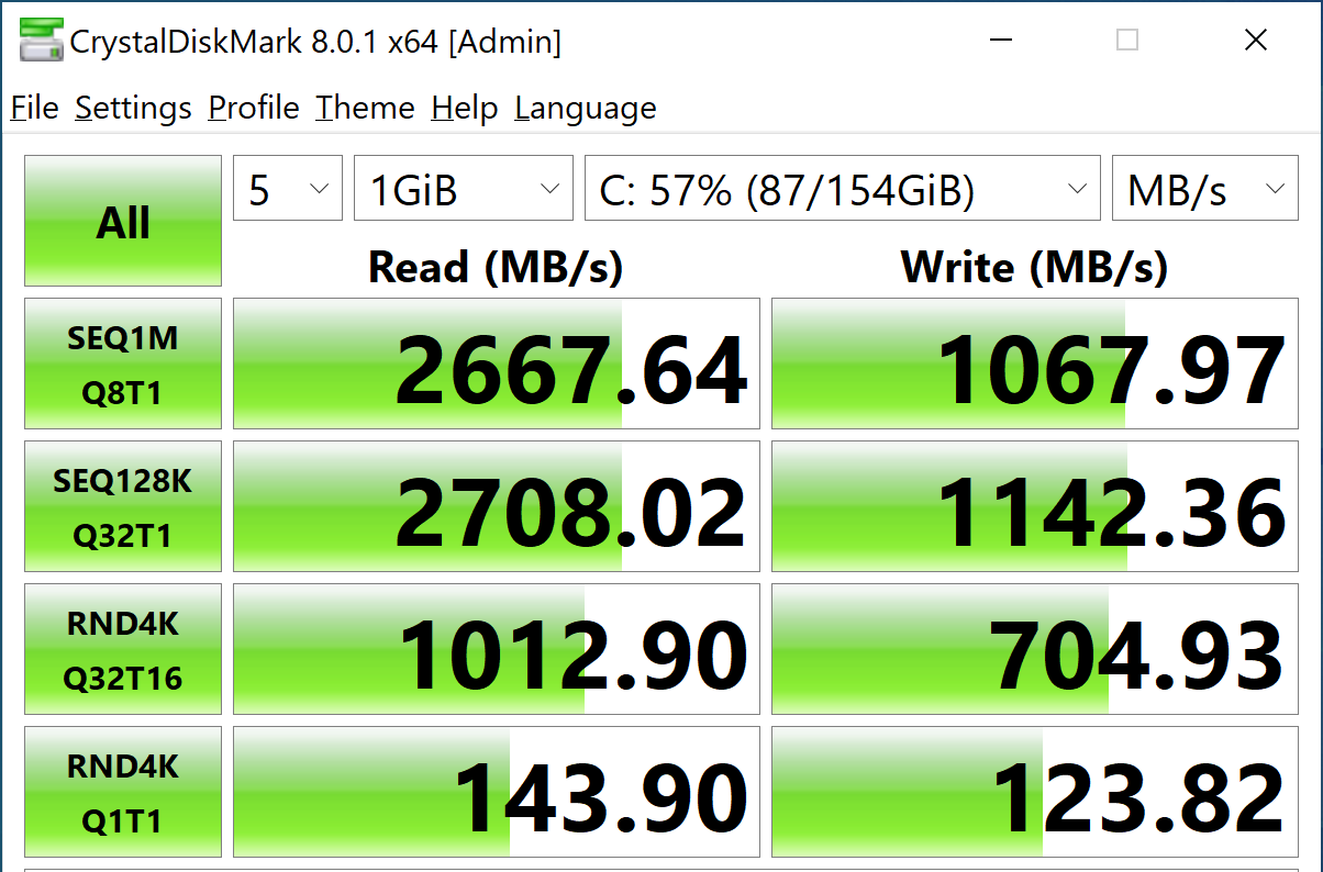 StorageReview-CrystalDiskMark- Intel Optane Memory H10 Optane On