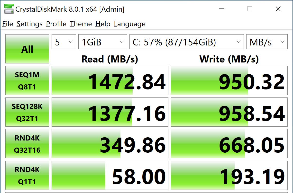 StorageReview-CrystalDiskMark- Intel Optane Memory H10 Optane Off