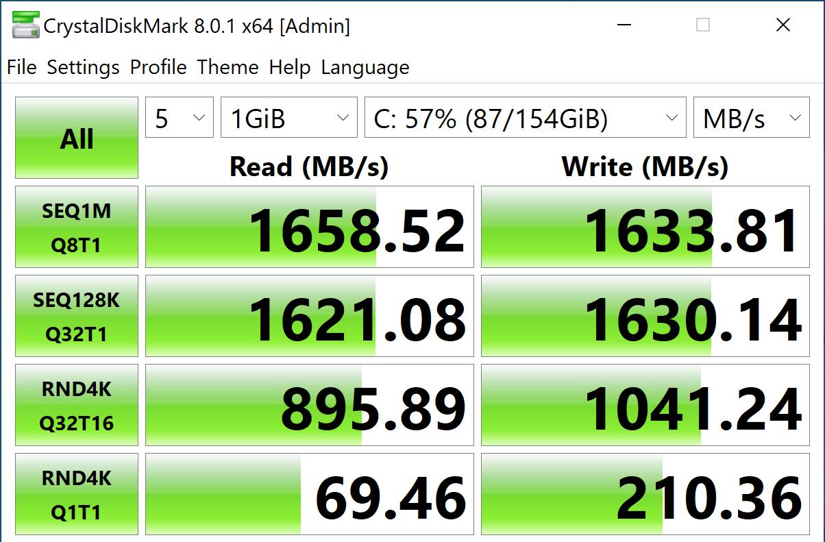 StorageReview-CrystalDiskMark- Intel Optane Memory H20 Optane Off