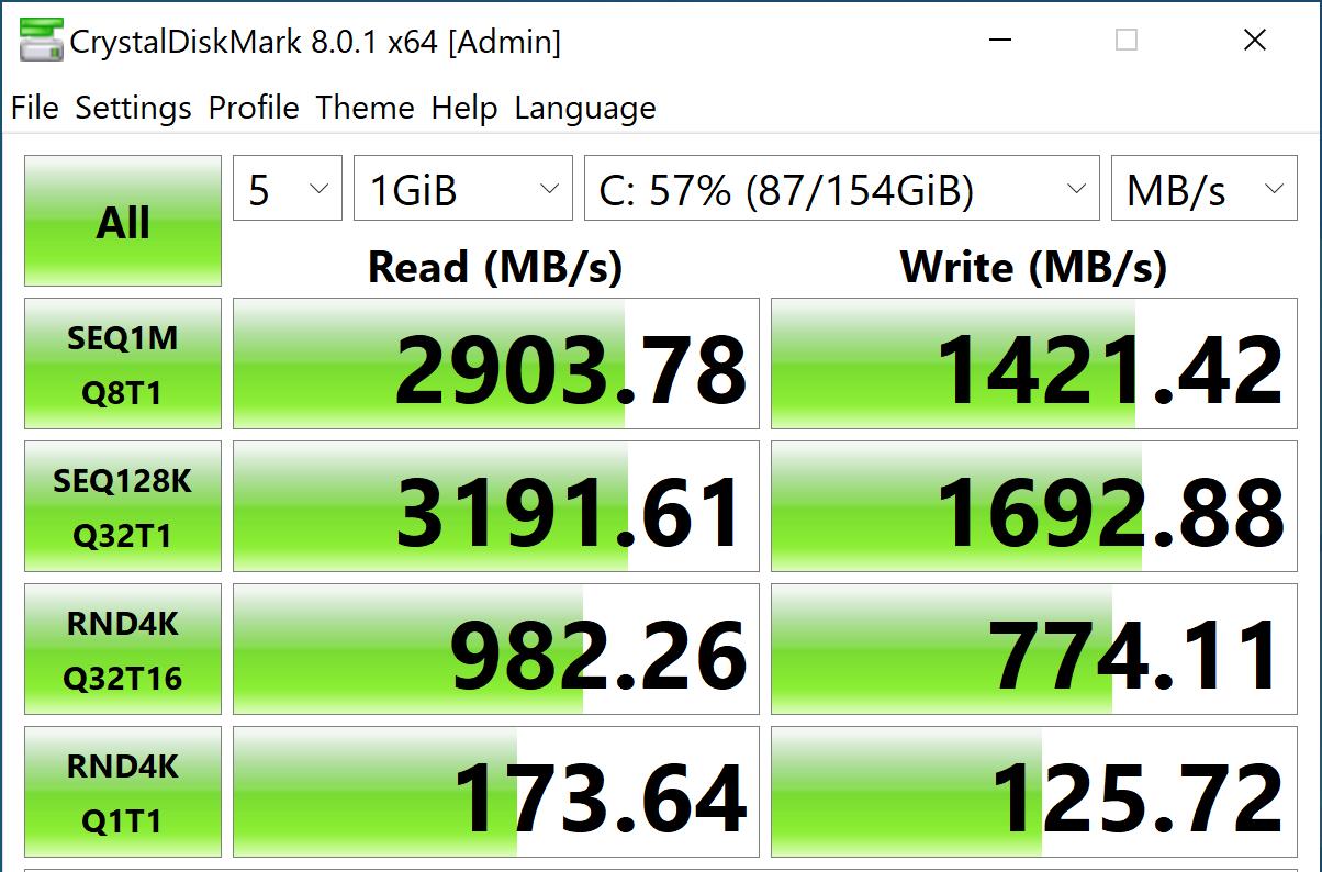 StorageReview-CrystalDiskMark- Intel Optane Memory H20 Optane On