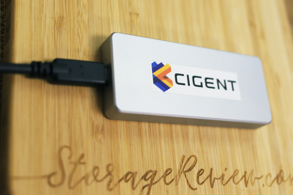 Cigent K2 Secure SSD angled