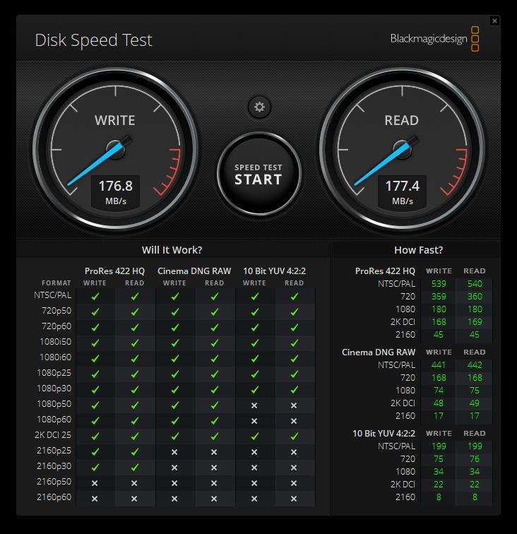 -Seagate FireCuda 8TB Gaming Hub Blackmagic performance