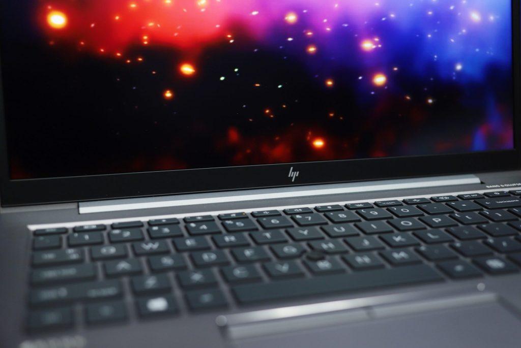 HP ZBook Firefly G8 keyboard close up