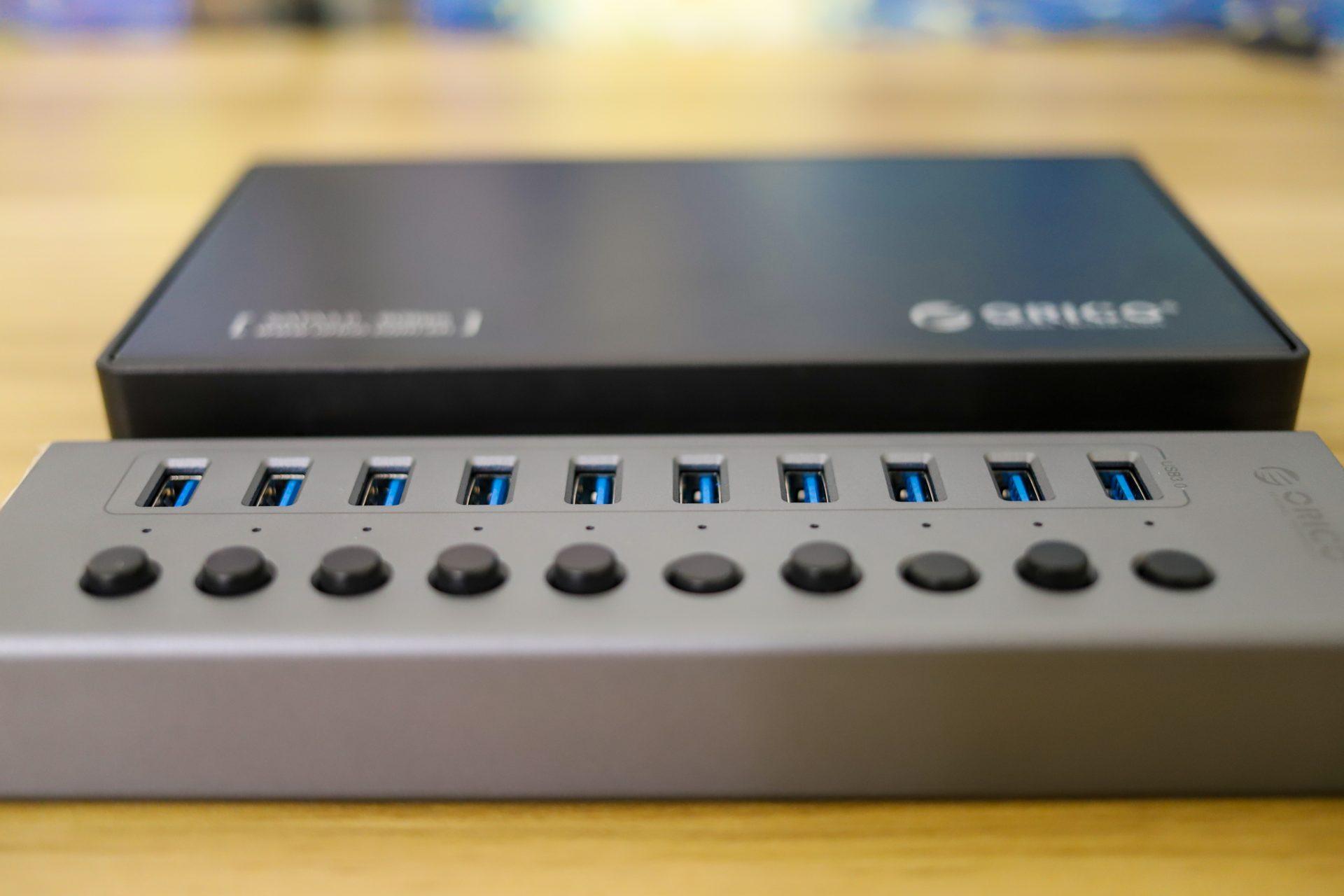 Orico Multi-Port Hub power buttons