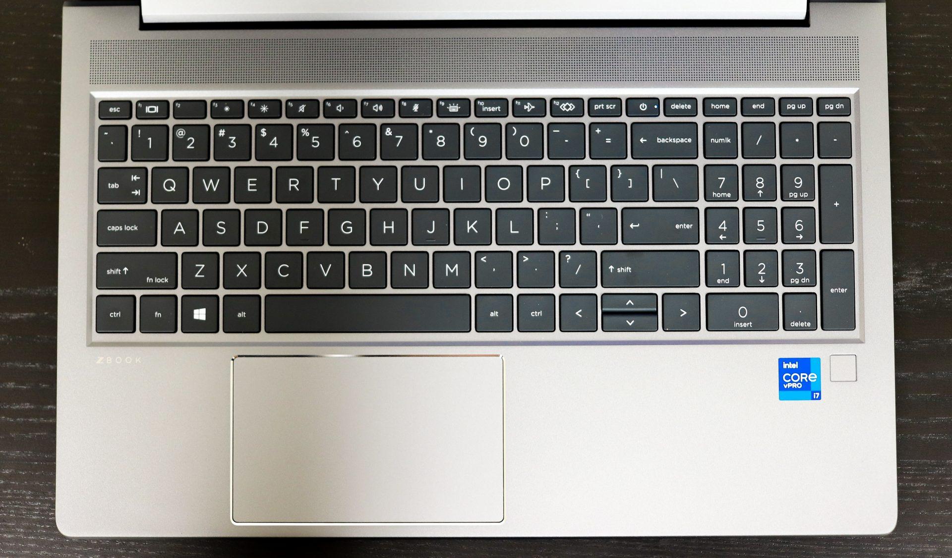 HP ZBook Power G8 keyboard